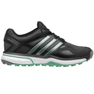 Adidas Adipower Sport Boost Golf Shoes Ladies CLOSEOUT Black/Silver/Green (As Is Item)