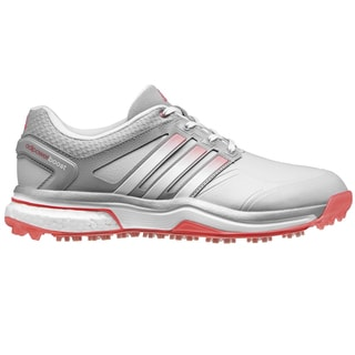 Adidas Adipower Boost Golf Shoes Ladies CLOSEOUT Clear Grey/White/Red