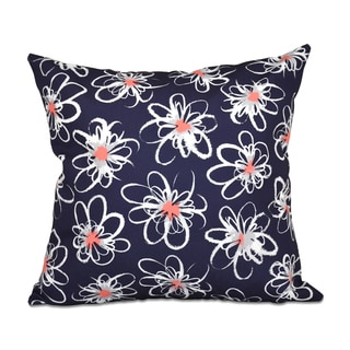 Penelope Floral Geometric Print 18-inch Throw Pillow