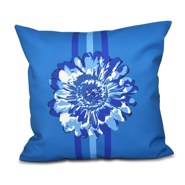 Flower Child 2 Floral Print 18-inch Throw Pillow