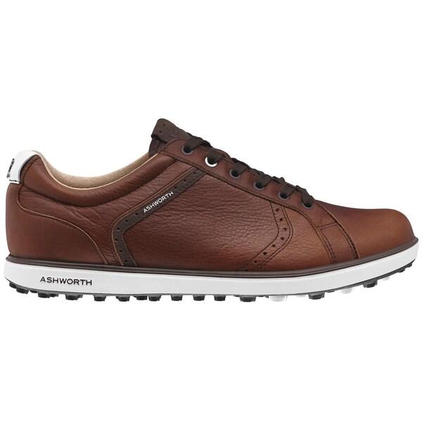 Ashworth Cardiff ADC 2 Golf Shoes 2015 Tan Brown/Dark Brown/White