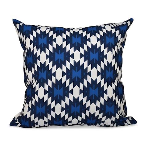 Jodhpur Kilim Geometric Print 18-inch Throw Pillow