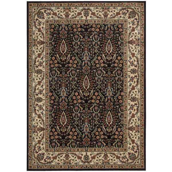 Nourison Persian Arts Black Rug (3'6 x 5'6)