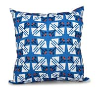 Jodhpur Ditsy Geometric Print 16-inch Throw Pillow