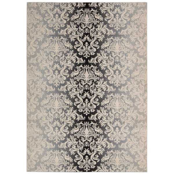 Nourison Riviera Charcoal Rug (3'6 x 5'6)