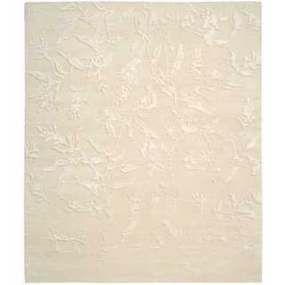 Nourison Silk Shadows Ivory Rug (3'9 x 5'9)