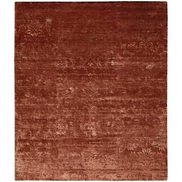 Nourison Silk Shadows Rust Rug