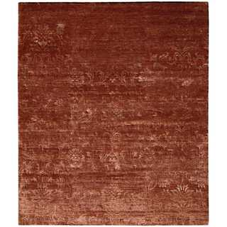 Nourison Silk Shadows Rust Rug (3'9 x 5'9)