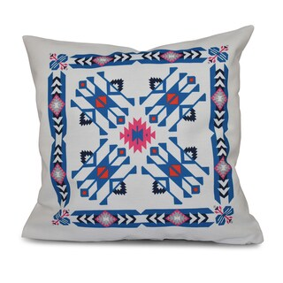 Jodhpur Border 4 Geometric Print 16-inch Throw Pillow
