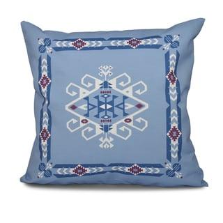 Jodhpur Border 3 Geometric Print 16-inch Throw Pillow