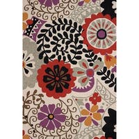 Piazza Nessa Multicolored Indoor/ Outdoor Area Rug (5' x 7'6) - 5' x 7'6""