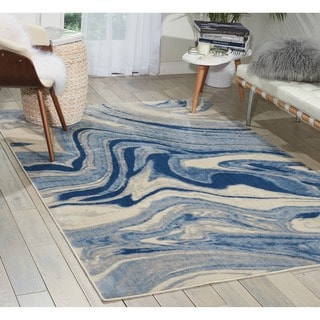 Nourison Somerset Light Blue Rug (3'6 x 5'6)