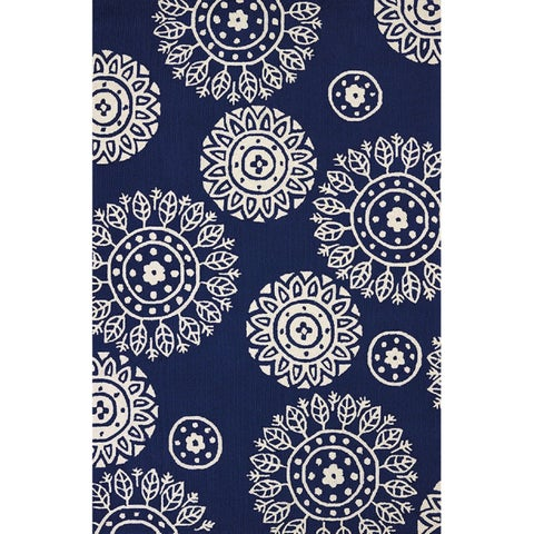 Piazza Nala Navy Indoor/ Outdoor Area Rug - 5' x 7'6""