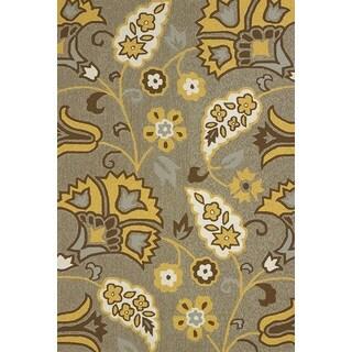Alliyah Elegant Eastern Flavors Beige Brown Natural Wool