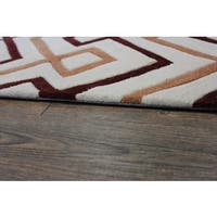 Beige Brown Copper Color Area Rug - 5' x 7'