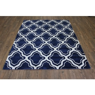 Blue White Color Area Rug (5' x 7') - 5' x 7'