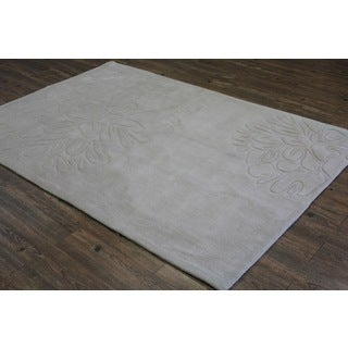 Beige with Flower Design Area Rug - 5' x 7'