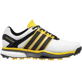 Adidas Adipower Boost Golf Shoes CLOSEOUT White/Black/Yellow (Option: 9.5)