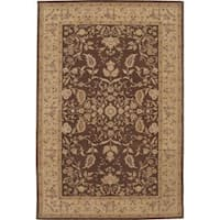 Nourison Heritage Hall Brown Rug - 5'6 x 8'6