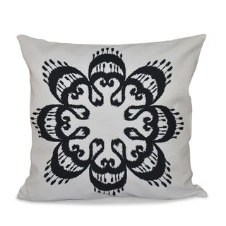 Ikat Mandala Geometric Print 16-inch Throw Pillow