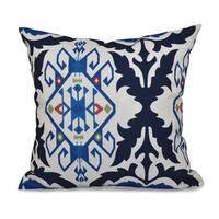 Bombay Medallion Geometric Print 18-inch Throw Pillow