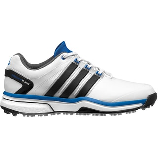 Adidas Adipower Boost Golf Shoes CLOSEOUT White/Black/Bahia Blue (Option: 7.5)