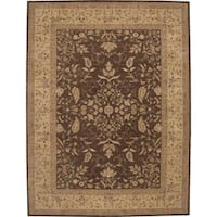 Nourison Heritage Hall Brown Rug (8'6 x 11'6) - 8'6 x 11'6