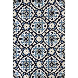 Piazza Adelaide Navy Indoor/ Outdoor Area Rug (7'10 x 9'10)