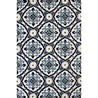 Piazza Adelaide Navy Indoor/ Outdoor Area Rug (7'10 x 9'10) - 7'10 x 9'10