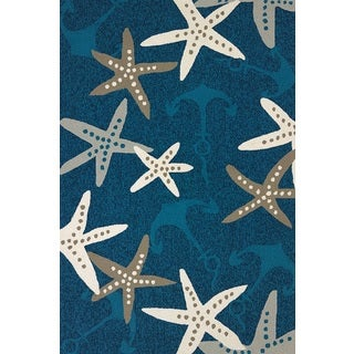 Piazza Lilah Cyan Indoor/ Outdoor Area Rug (7'10 x 9'10)