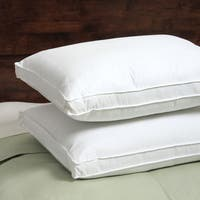 Spring Air 300 Thread Count Won't Go Flat Density Pillow (Set of 2) Queen Size (As Is Item)