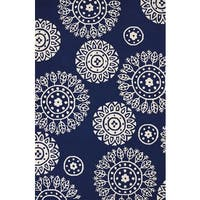 Piazza Nala Navy Indoor/ Outdoor Area Rug (7'10 x 9'10) - 7'10 x 9'10