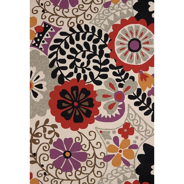 Piazza Nessa Multicolored Indoor/ Outdoor Area Rug (7'10 x 9'10) - 7'10 x 9'10
