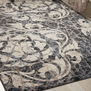 Nourison Maxell Ivory/Charcoal Rug (3'10 x 5'10)