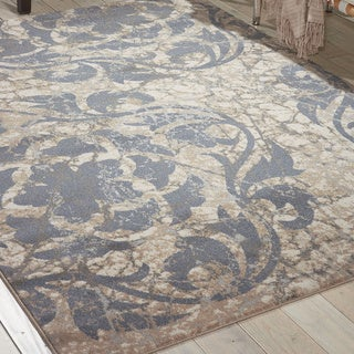 Nourison Maxell Ivory Blue Rug (3'10 x 5'10)