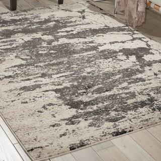 Nourison Maxell Ivory/Grey Rug (3'10 x 5'10)