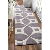 Palm Canyon Invierno Handmade Grey Runner Rug (2'6 x 8') - 2'6 x 8'