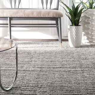 nuLOOM Contemporary Waves Solid Grey Rug (2' x 3')