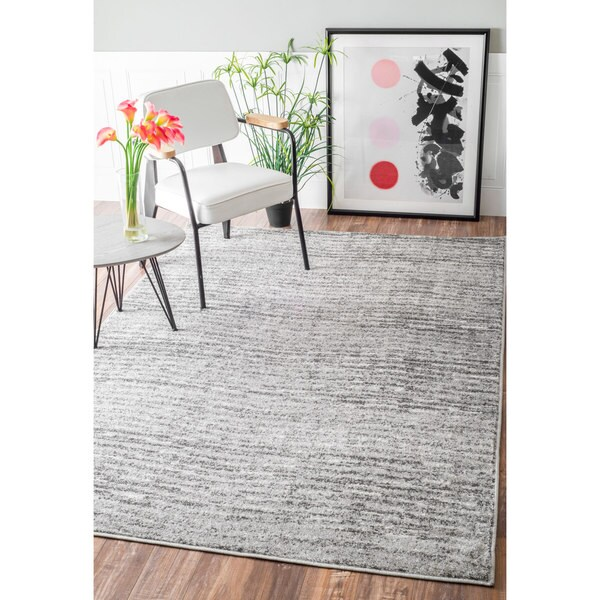 Nuloom Contemporary Waves Grey Rug 10 X 14 Free