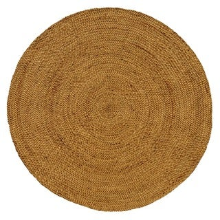 Celebration Round Braided Jute Area Rug (4' Dia.)