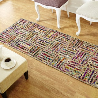 Better Trends Criss-Cross Jute Runner (2' x 6')