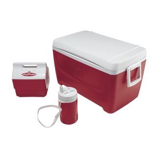 Igloo 44712 Island Breeze Cooler with Playmate Mini and Legend Cooler Red