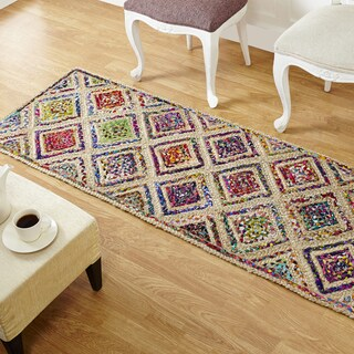 Better Trends Diamond Jute Runner, 2' x 6'
