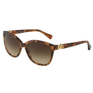 Dolce & Gabbana Women's DG4258 Brown Plastic Square Sunglasses