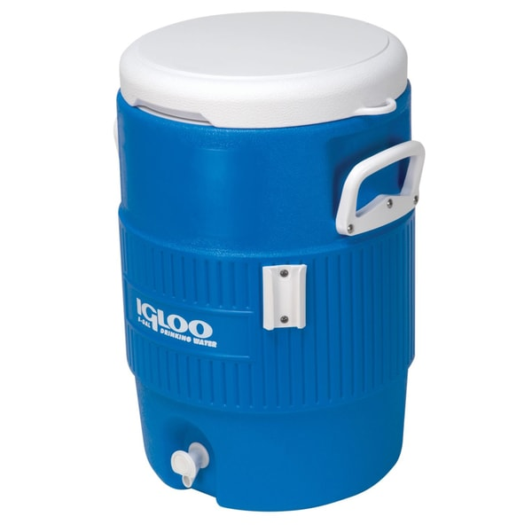 Igloo 42026 5 Gallon Seat Top Beverage Cooler Blue/White With Cup Dispenser