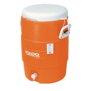 Igloo 42316 5 Gallon Orange Seat Top Beverage Cooler