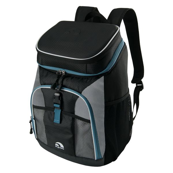 Igloo 59986 MaxCold Black/Gray/Blue Insulated Cooler Backpack