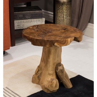 Somette Saco Indoor Teak Freeform Root Accent Table