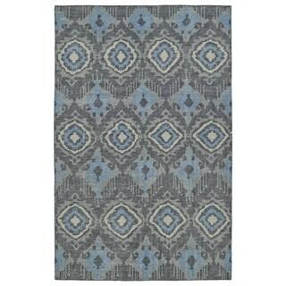Hand-Knotted Vintage Charcoal Boho Rug (2'0 x 3'0)