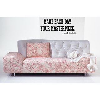 Phrase Make Each Day Your Masterpiece Wall Art Sticker Decal